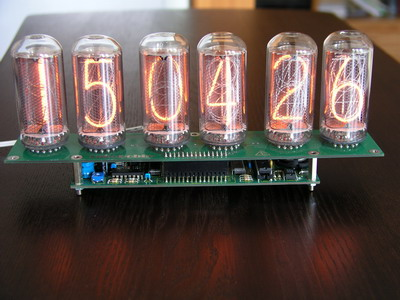 NCV2.1-18 - Nixie clock kit for IN-18 nixie tubes.